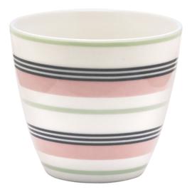 GreenGate Stoneware Latte Cup Leoma Peach H 9 cm