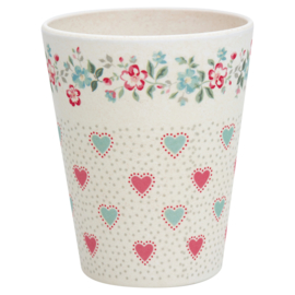 GreenGate Bamboo Cup Sonia White