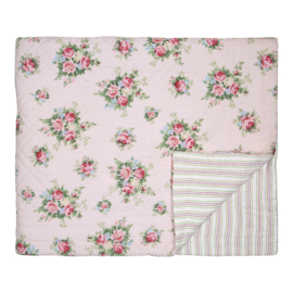 GreenGate Bed Cover Aurelia Pale Pink 140 x 220 cm