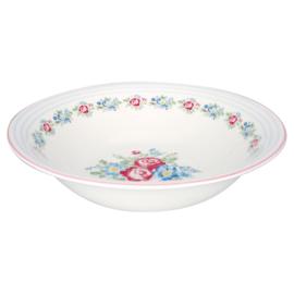 GreenGate Stoneware Salad Bowl Henrietta White