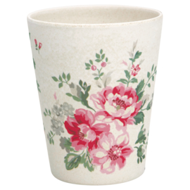 GreenGate Bamboo Cup Elouise White