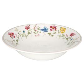 GreenGate Stoneware Salad Bowl Thilde White
