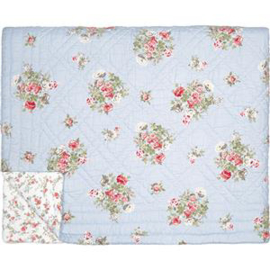 GreenGate Bed Cover Petricia Pale Blue 140 x 220  cm