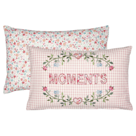 GreenGate Cotton Cushion Moments Pale Pink 30 x 50 cm