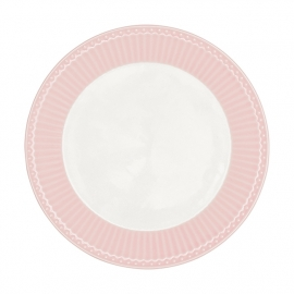 GreenGate Stoneware Plate Alice Pale Pink D 23,5 cm