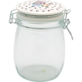 GreenGate Storage Jar Ellie White 0,75 Liter