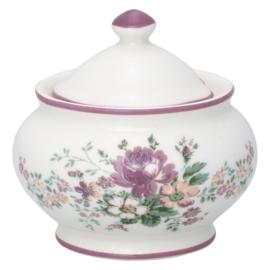 GreenGate Stoneware Sugar Pot Round Marie Dusty Rose H 10 cm