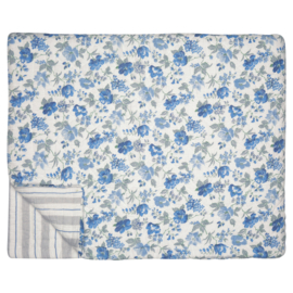 GreenGate Quilted Bed Cover Donna Blue 140 x 220 cm