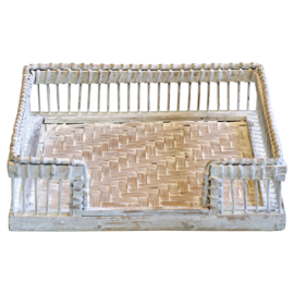 GreenGate Willow Napkin Tray White 3,5 x 19,0 x 19,0 cm
