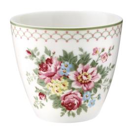 GreenGate Stoneware Latte Cup Aurelia White H 9 cm