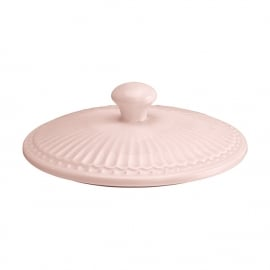 GreenGate Stoneware Lid Alice Pale Pink Medium