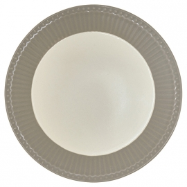GreenGate Stoneware Plate Alice Warm Grey D 23,5 cm