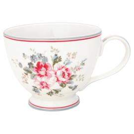 GreenGate Stoneware Teacup Elouise White H 9 cm