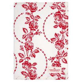 GreenGate Tea towel Fleur Red 50 x 70 cm