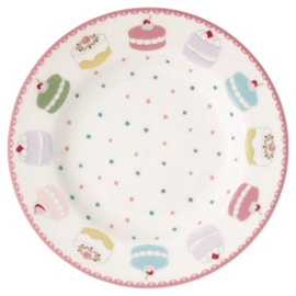 GreenGate Stoneware Small Plate Madelyn White D 15 cm