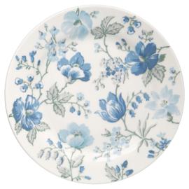 GreenGate Stoneware Plate Donna Blue D 20,5 cm