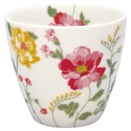 GreenGate Stoneware Latte Cup Thilde White