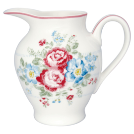 GreenGate Stoneware Creamer Round Henrietta White