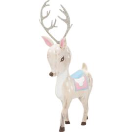GreenGate Wood Decoration Bambi White Large