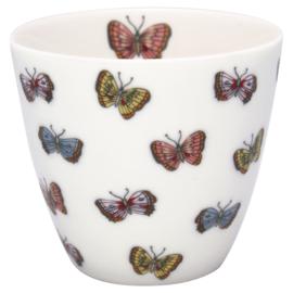 GreenGate Stoneware Latte Cup Maisie White H 9 cm