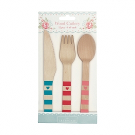 GreenGate Wood Cutlery Abelone L 16 cm