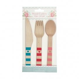 GreenGate Wood Cutlery Abelone L 16 cm