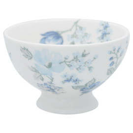GreenGate Stoneware Snack Bowl Donna Blue