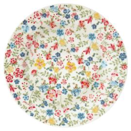 GreenGate Stoneware Plate Sophia White D 20,5 cm