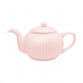 GreenGate Stoneware Teapot Alice Pale Pink H 14 cm