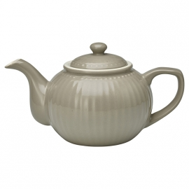GreenGate Stoneware Teapot Alice Warm Grey H 14 cm