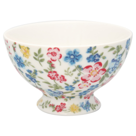 GreenGate Stoneware Snack Bowl Sophia White