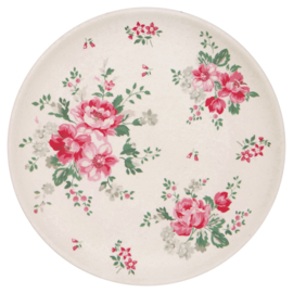 GreenGate Bamboo Plate Elouise White D 20 cm