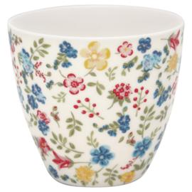 GreenGate Stoneware Latte Cup Sophia white H 9 cm