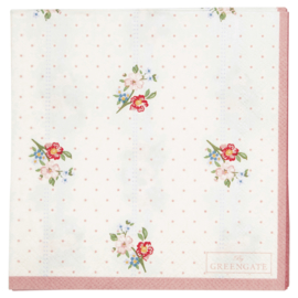 GreenGate Paper Napkin Eja White Small 20 Pieces 25 x 25 cm
