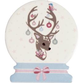 GreenGate Ceramic Magnet Dina Pale Pink Set Of 4