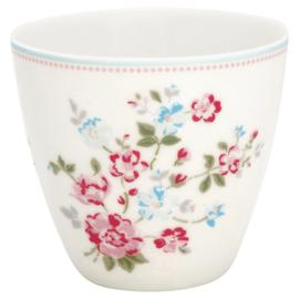 GreenGate Stoneware Latte Cup Sonia White H 9 cm
