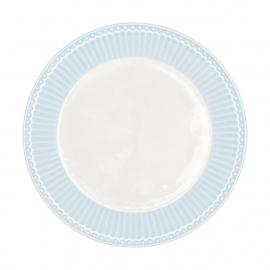 GreenGate Stoneware Plate Alice Pale Blue D 23,5 cm