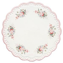 GreenGate Coaster Board Round Petricia White