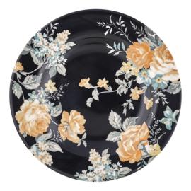 GreenGate Stoneware Small Plate Josephine Black D 15 cm