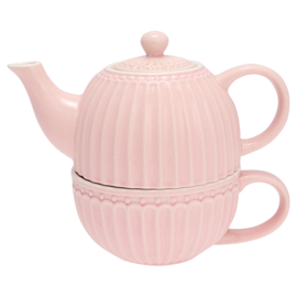 GreenGate Stoneware Tea For One Alice Pale Pink H 15 cm