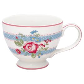 GreenGate Stoneware Teacup Evie White