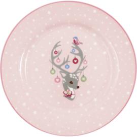 GreenGate Stoneware Kids Plate Dina Pale Pink