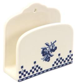 Comptoir de Famille Napkin Holder Damier Blue