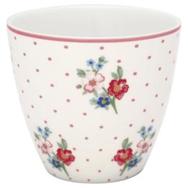 GreenGate Stoneware Latte cup Eja White H 9 cm