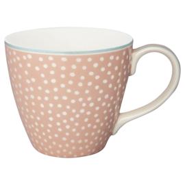 GreenGate Stoneware Mug Dot Peach H 9 cm
