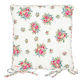GreenGate Seat Cushion Franka White Large