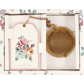 GreenGate Tea Infuser Madison White With Chain