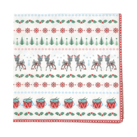 GreenGate Paper Napkin Bambi White Small 20 Pieces 25 x 25 cm