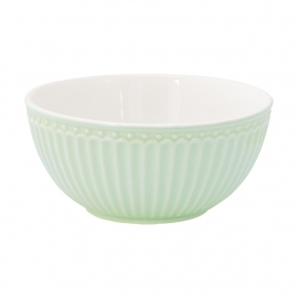 GreenGate Stoneware Cereal Bowl Alice Pale Green D 14 cm