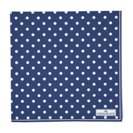 GreenGate Paper Napkin Spot Blue Large 20 Pieces 33 x 33 cm